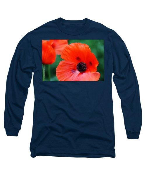 Crepe Paper Petals Long Sleeve T-Shirt by Debbie Oppermann