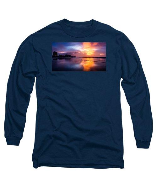 Crescent Beach Sunrise Long Sleeve T-Shirt