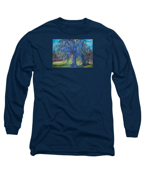 Long Sleeve T-Shirt featuring the drawing Crystal Light by Anna  Duyunova