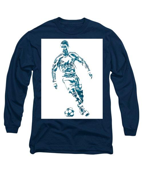 Cristiano Ronaldo Real Madrid Pixel Art 1 Long Sleeve T-Shirt