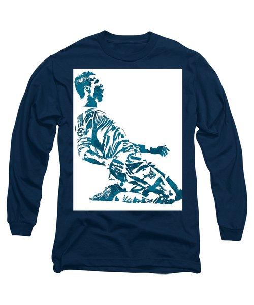 Cristiano Ronaldo Real Madrid Pixel Art 2 Long Sleeve T-Shirt