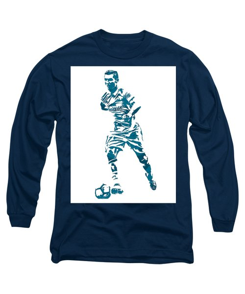 Cristiano Ronaldo Real Madrid Pixel Art 3 Long Sleeve T-Shirt