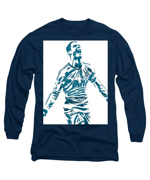Cristiano Ronaldo Real Madrid Pixel Art 4 Long Sleeve T-Shirt