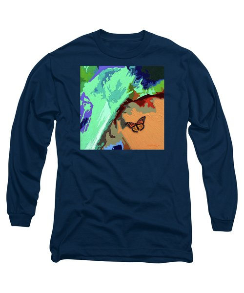 Crossing The Border For A New Life Long Sleeve T-Shirt by John Lautermilch