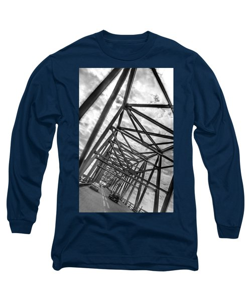 Crossing Through The Chesapeake Bay Bridge Long Sleeve T-Shirt
