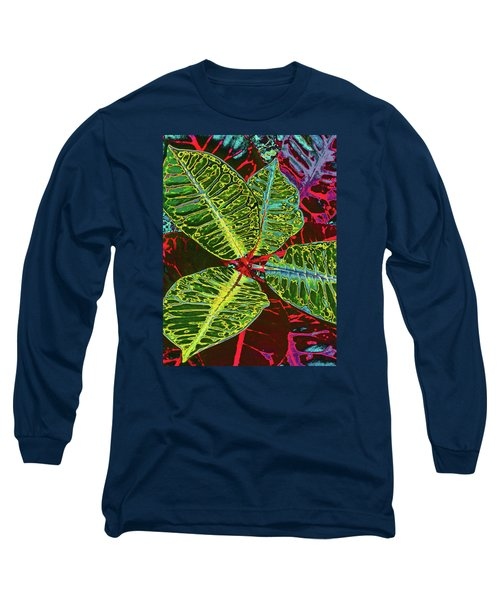 Croton - Deep Green Long Sleeve T-Shirt by Kerri Ligatich