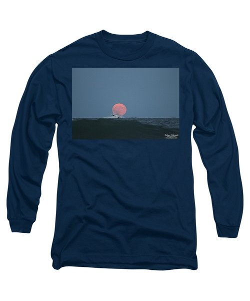 Cruising On A Wave During Harvest Moon Long Sleeve T-Shirt