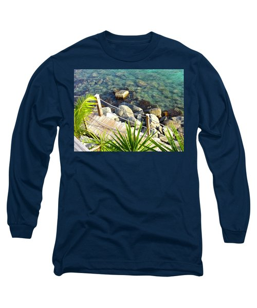 Crystal Clear Long Sleeve T-Shirt by Beth Saffer