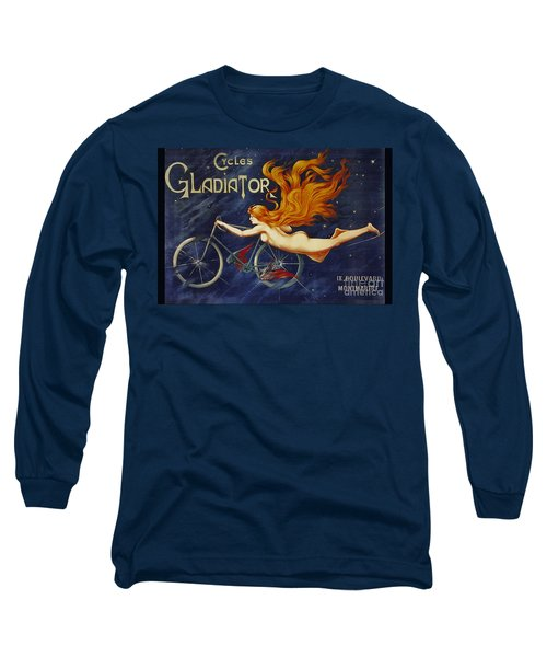 Cycles Gladiator  Vintage Cycling Poster Long Sleeve T-Shirt