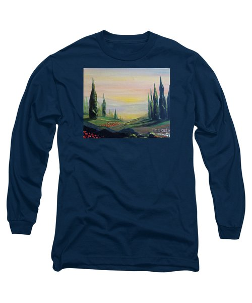 Cypress Dawn Landscape Long Sleeve T-Shirt