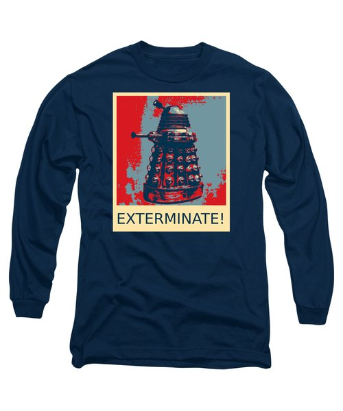Dalek - Exterminate Long Sleeve T-Shirt by Richard Reeve