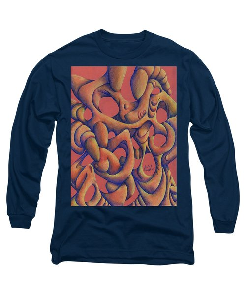 Dancing At A Wedding Reception Long Sleeve T-Shirt by Versel Reid