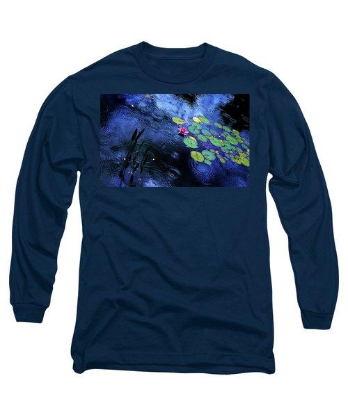 Dancing In The Rain Long Sleeve T-Shirt by John Poon