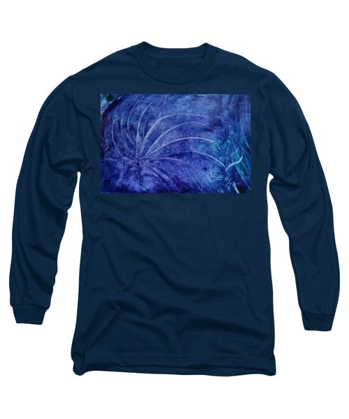 Dark Blue Abstract Long Sleeve T-Shirt