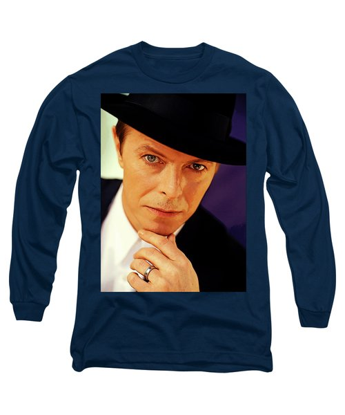 David Bowie As An Average Everyman Long Sleeve T-Shirt