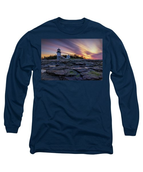 Dawn Breaking At Marshall Point Lighthouse Long Sleeve T-Shirt