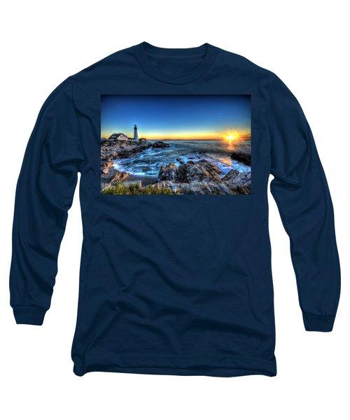 Dawn At Portland Head Lighthouse Long Sleeve T-Shirt