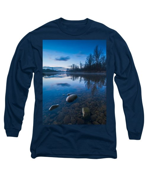 Dawn At River Long Sleeve T-Shirt by Davorin Mance