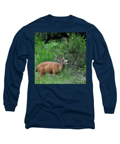 Long Sleeve T-Shirt featuring the photograph Deer Brunch by Tanya Searcy