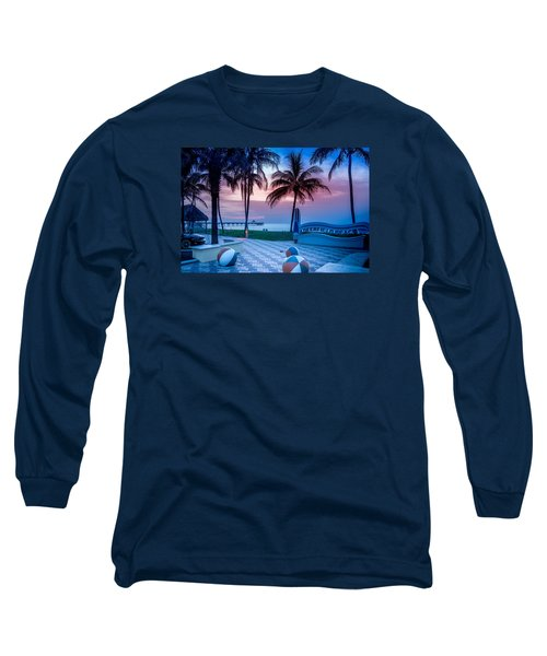 Deerfield Beach Fl Fishing Pier Long Sleeve T-Shirt