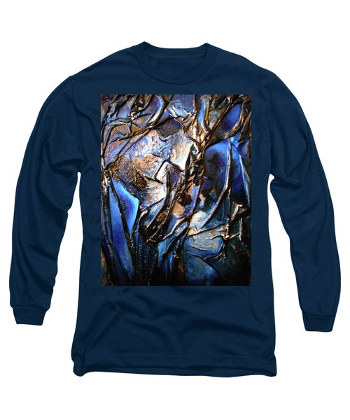 Long Sleeve T-Shirt featuring the mixed media Depth by Angela Stout
