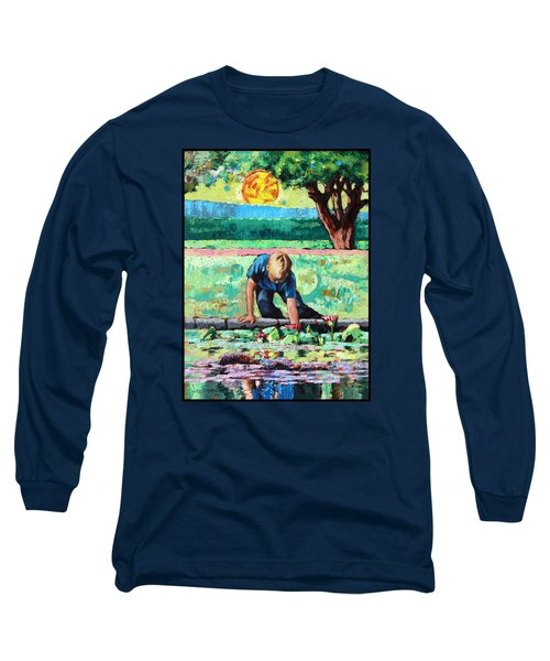 Discovering A World Of Beauty Long Sleeve T-Shirt by John Lautermilch