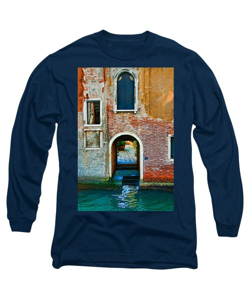 Dock And Windows Long Sleeve T-Shirt by Harry Spitz