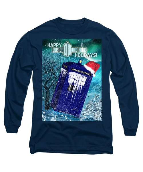 Doctor Who Tardis Holiday Card Long Sleeve T-Shirt