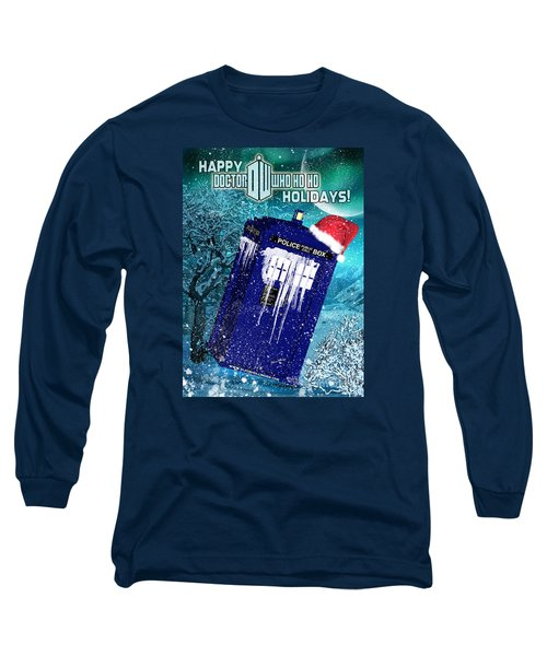 Doctor Who Tardis Holiday Card Long Sleeve T-Shirt