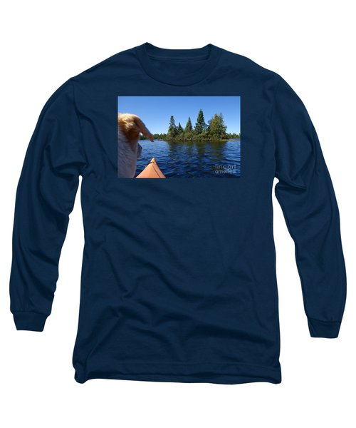 Long Sleeve T-Shirt featuring the photograph Dogs Love Kayaking Too by Sandra Updyke