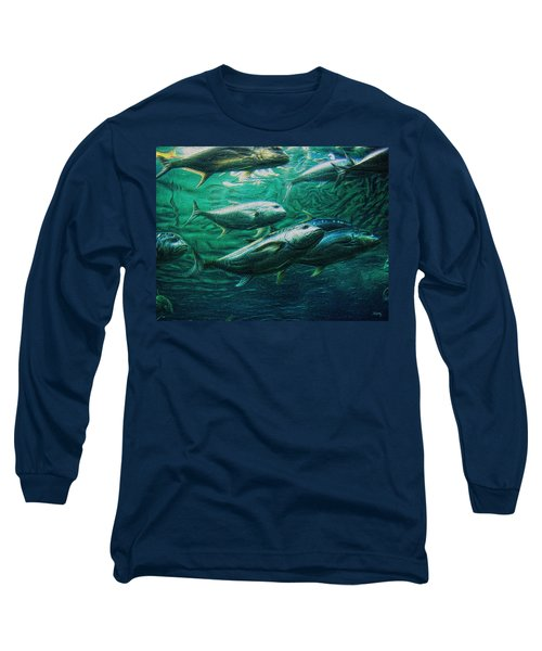 Don't Mess With Bluefin Jack Long Sleeve T-Shirt by Glenn McCarthy