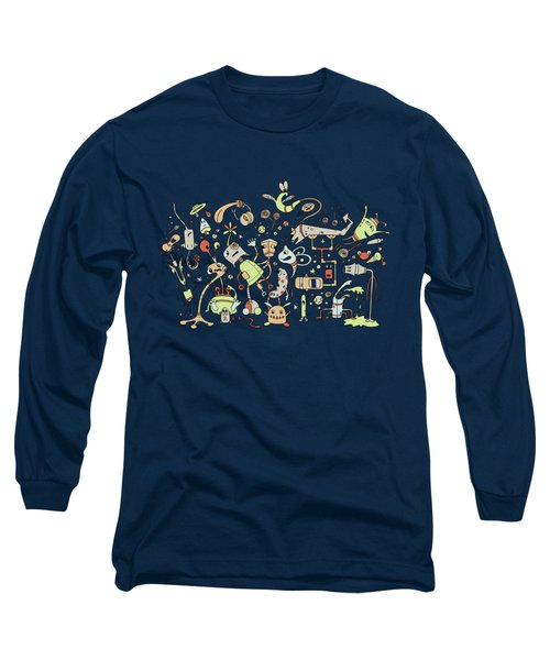 Doodle Bots Long Sleeve T-Shirt