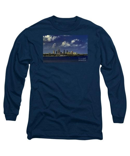 Down Town Tampa Long Sleeve T-Shirt by Ken Frischkorn
