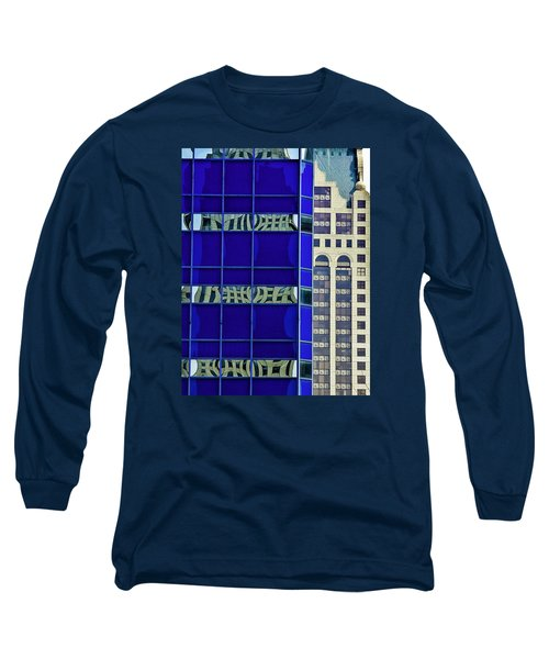 Downtown Mke Long Sleeve T-Shirt by Michael Nowotny