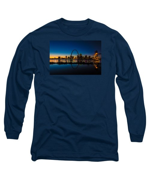 Downtown St. Louis And The Gateway Arch Long Sleeve T-Shirt by Matthew Chapman