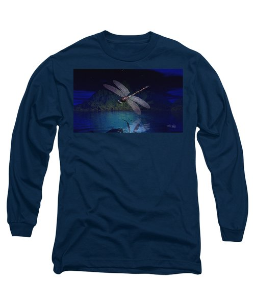 Dragonfly Night Reflections Long Sleeve T-Shirt