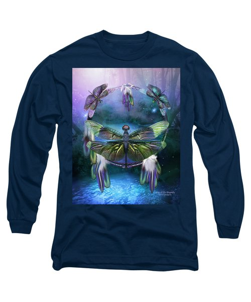 Dream Catcher - Spirit Of The Dragonfly Long Sleeve T-Shirt