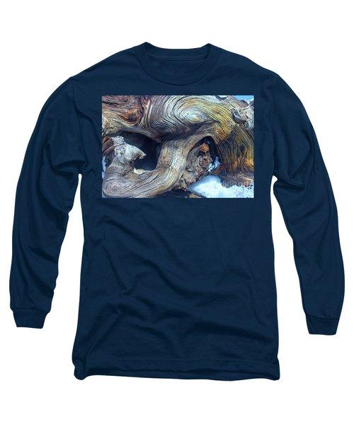 Driftwood Swirls Long Sleeve T-Shirt by Todd Breitling