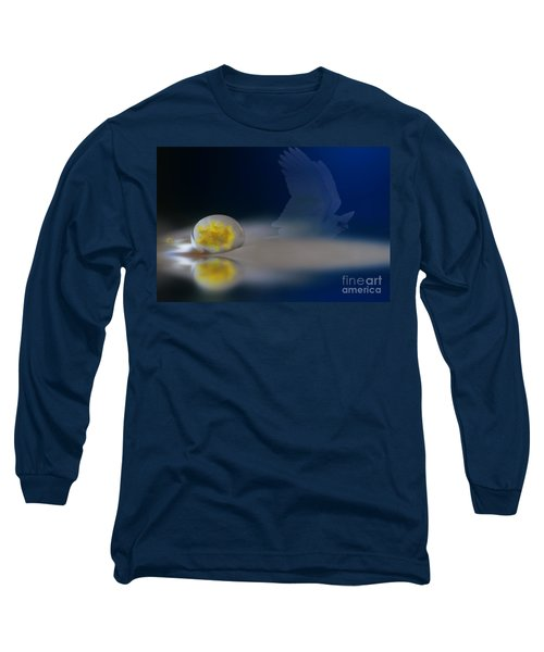 Droplet On A Cockatoo Feather Long Sleeve T-Shirt by Kym Clarke