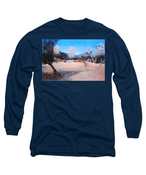 Dry Wash In Winter Long Sleeve T-Shirt by M Diane Bonaparte