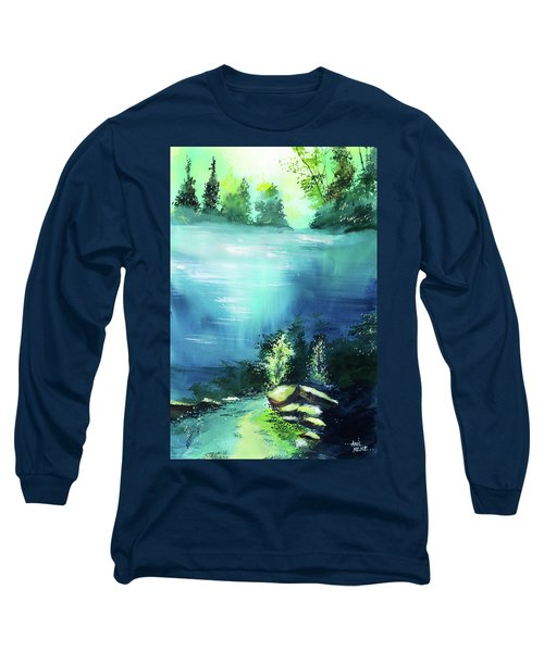 Long Sleeve T-Shirt featuring the painting Duality by Anil Nene
