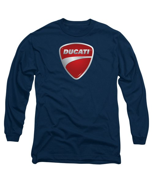 Long Sleeve T-Shirt featuring the photograph Ducati By Moonlight by Movie Poster Prints