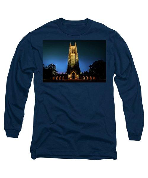 Duke Chapel Lit Up Long Sleeve T-Shirt