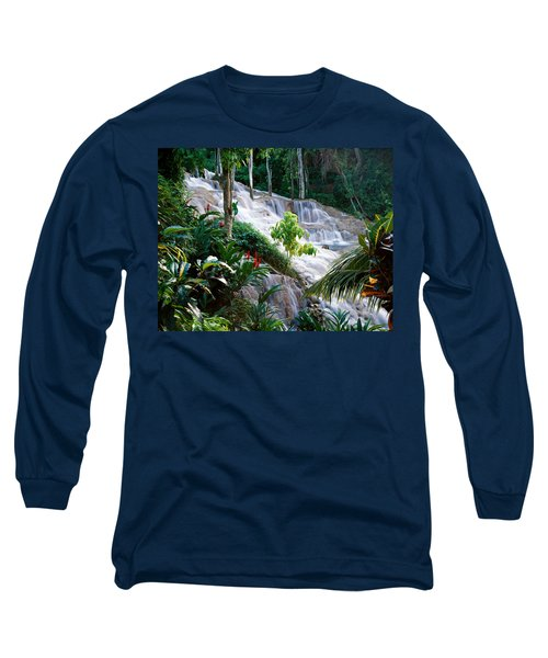 Dunn's River Falls Jamaica Long Sleeve T-Shirt