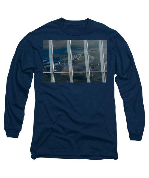 Long Sleeve T-Shirt featuring the photograph Duxford Dakota Daydream by Gary Eason