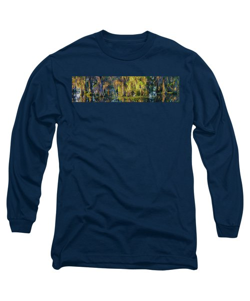 Early Morning Swampscape Long Sleeve T-Shirt by Kimo Fernandez