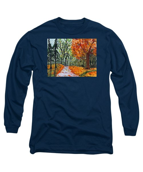 Long Sleeve T-Shirt featuring the painting Early October by Jack G  Brauer