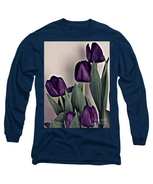 A Display Of Tulips Long Sleeve T-Shirt by Sherry Hallemeier