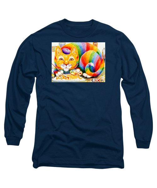 el Gato Artisto Long Sleeve T-Shirt