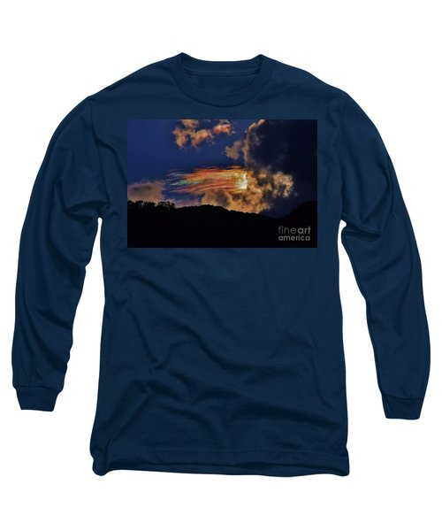Electric Rainbow Long Sleeve T-Shirt by Craig Wood